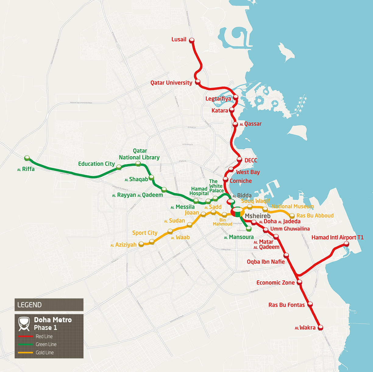 Green Start Web Page Site Map: Doha Metro